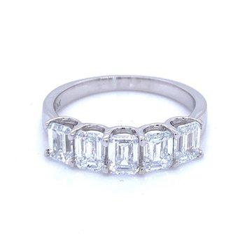 Emerald Cut Diamond Band-2ctw