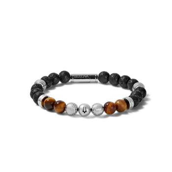 Tiger Eye & Lava Bead Bracelet
