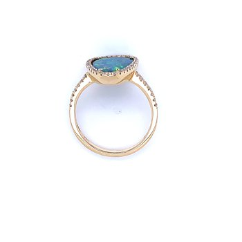 It Speaks to Me Opal Doublet Ring