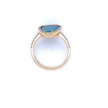 It Speaks to Me Opal Doublet Ring