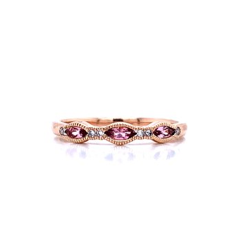 Pink Topaz Stackable Band