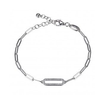 Paperclip Bracelet with Sparkle