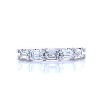 Emerald Cut Diamond Band-1ctw