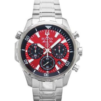 Bulova Marine Star Men's Gray Stainless Steel Bracelet Watch