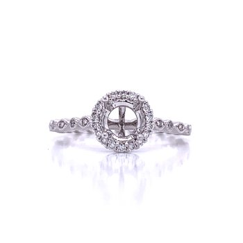 Halo Semi-mount for 3/4 carat round