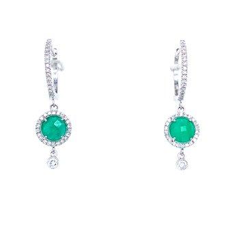 Meira T Emerald Drop Earrings