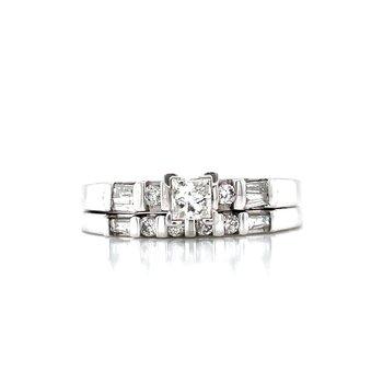 Princess Center Platinum Bridal Set