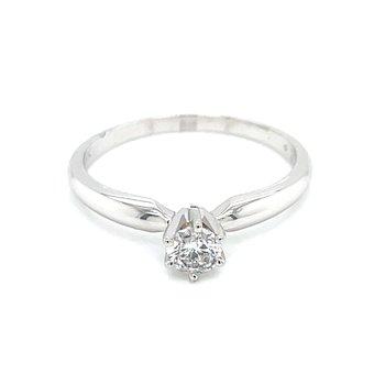 1/4carat Round Brilliant Cut Diamond Solitaire-14kw
