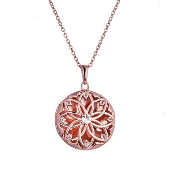Helen Locket Necklace in rose