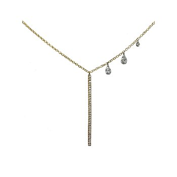 Meira T 14k yellow Diamond Necklace