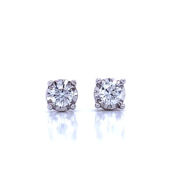 Tru-reflections Diamond Studs-1/2ctw