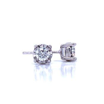 Tru-reflections Diamond Studs-1/2ctw