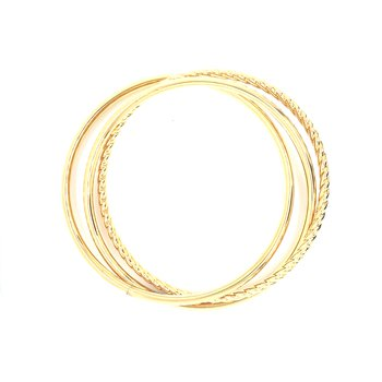 Suave Oro Interlocking Bangle Set