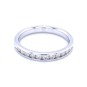 Channel Set Diamond Wedding Band 14kw-1/3ctw