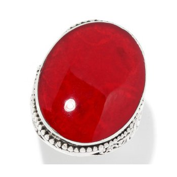 Red Coral Game Day Ring