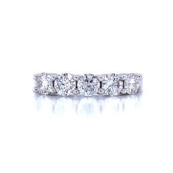 5 Stone Diamond Band-1ctw