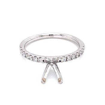 Prestigious Diamond Semi-mount to match 1/4ctw Band-14kw