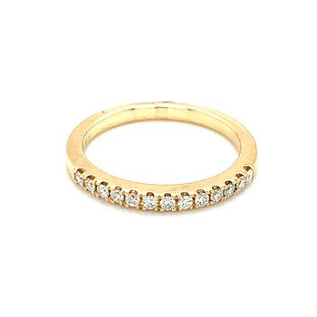 13 Diamond Wedding Band-14ky