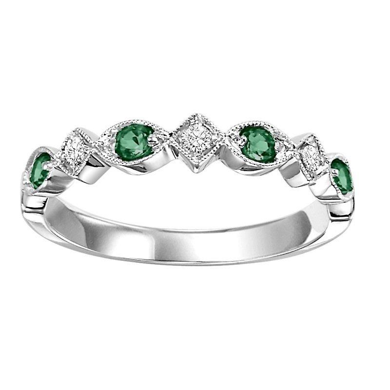 Bryan Beauties Emerald & Diamond Stackable