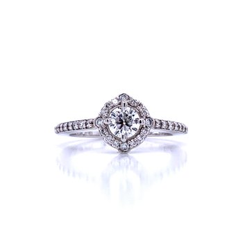 Love in All Directions Halo Engagement Ring