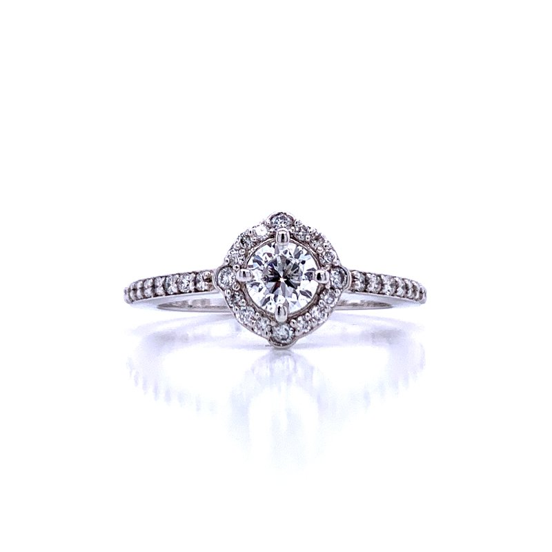 Bryan Beauties Love in All Directions Halo Engagement Ring