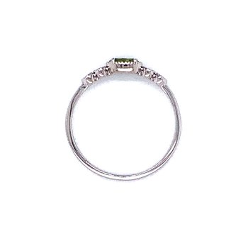 Sideways Peridot Ring