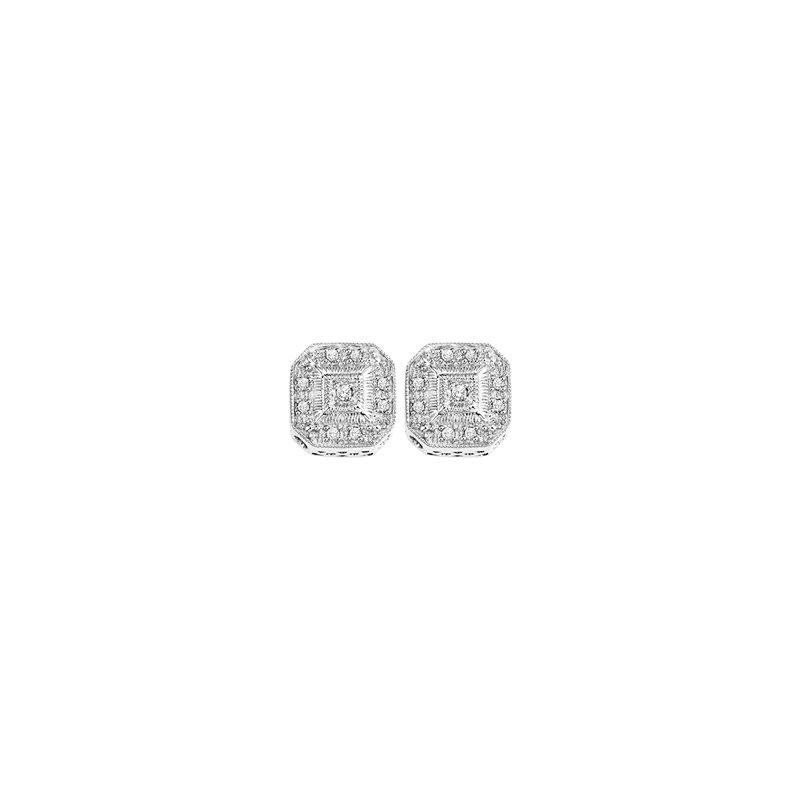 Bryan Beauties Vintage Style sterling Silver & Diamond Earrings