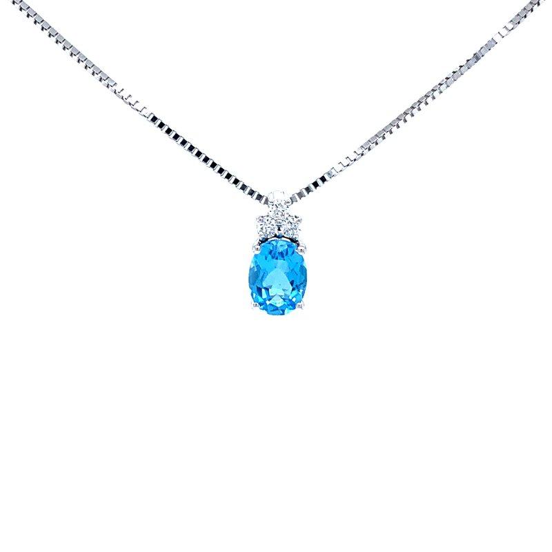 Bryan Beauties Blue Topaz and Diamond Pendant
