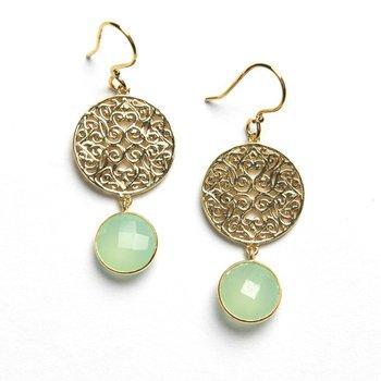 Charleston Series Chalcedony Earrings