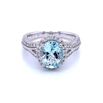 Lavish & Tranquil Aquamarine Ring