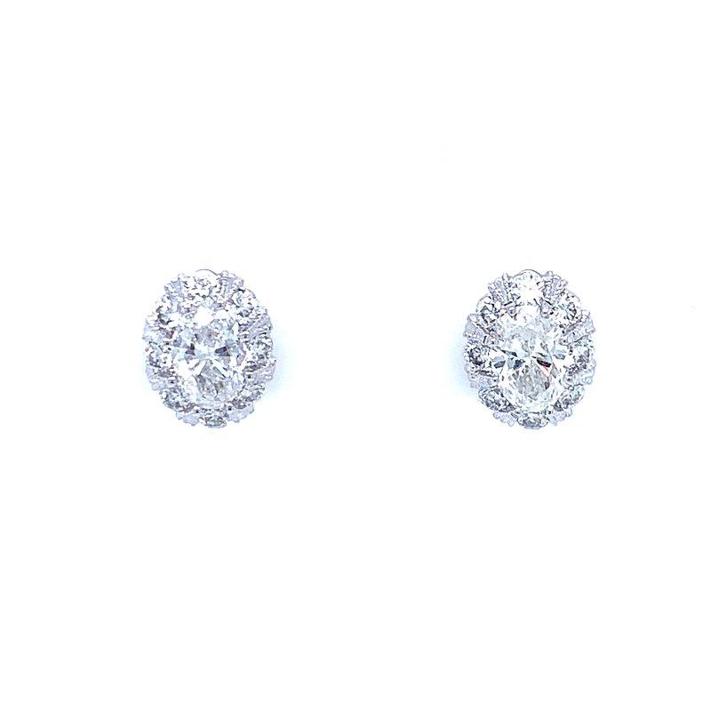 Bryan Beauties Oval Diamond Studs with Halo