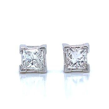 1/2ctw Princess Cut Diamond Studs