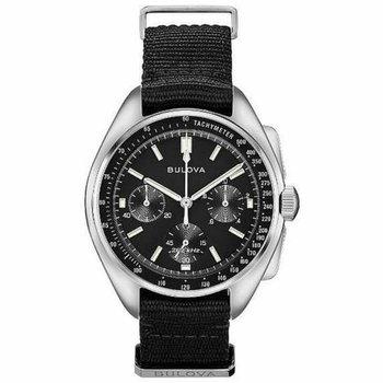 Men's Bulova Lunar Pilot Chronograph Black Steel Watch