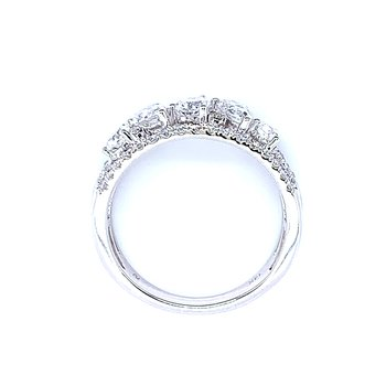 Diamond Band with an Array of Pear Shapes