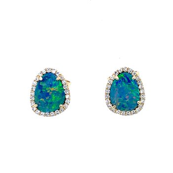 Gaze on my Beauty Opal Earrings