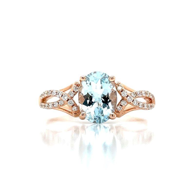 Bryan Beauties Blushing Aquamarine & Diamond Ring