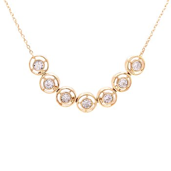 Diamond Line Necklace in 14k yellowgold