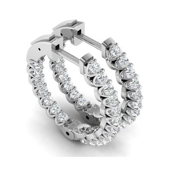 1ctw Lab Grown Diamond Hoops