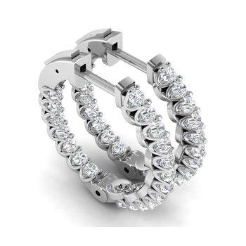 1ctw Lab Grown Diamond Hoops