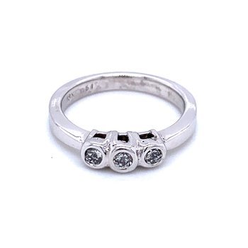 Three Diamond Stackable Band