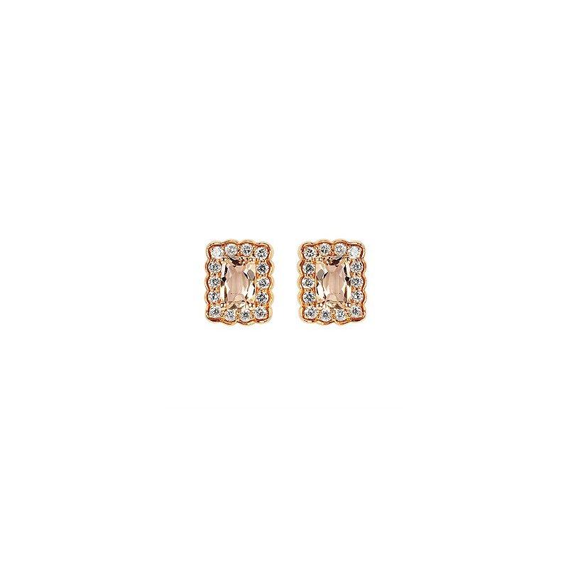 Ostbye Morganite Earrings-Emerald Cut