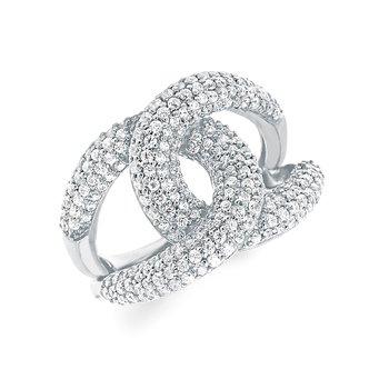 Pave' Set Linked Together Ring