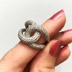 Ostbye Pave' Set Linked Together Ring