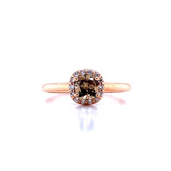 Cushion Cut Cocoa Diamond Ring