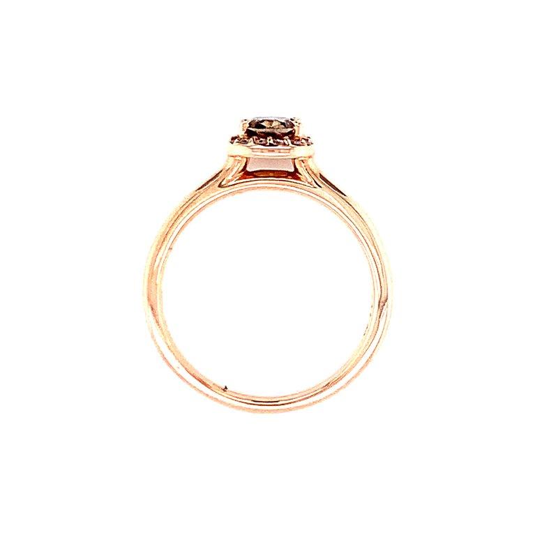 Bryan Beauties Cushion Cut Cocoa Diamond Ring