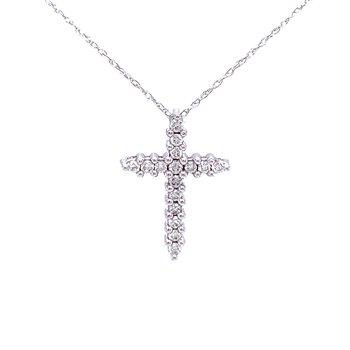 Simply Stated Diamond Cross - 14kw