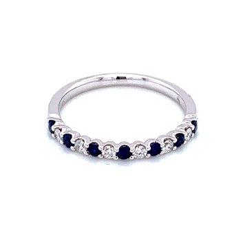 Sapphire & Diamond Band-Alternating