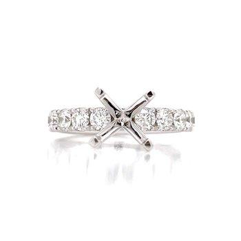 Prestigious Diamond Semi-mount to match 1ctw Band-14kw