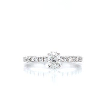Toast the Romance Oval Engagement Ring.