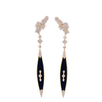 Black Onyx Stiletto Earrings